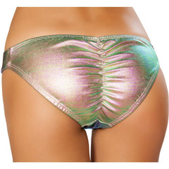 Shiny Light Multi Scrunch Butt Bottoms - Rave Rebel