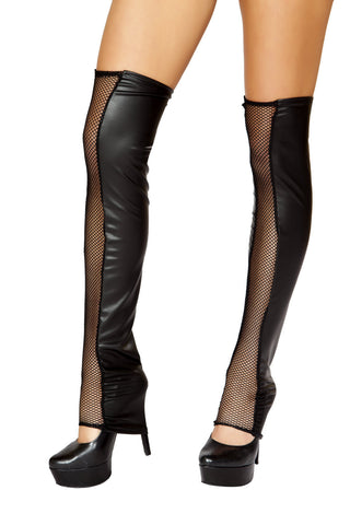 Black Fishnet Leg Warmer - Rave Rebel