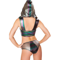 Black Holographic Multicolored Top - Rave Rebel