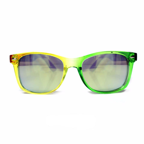 GloFX Transparent Rainbow Diffraction Glasses – Gold Mirror