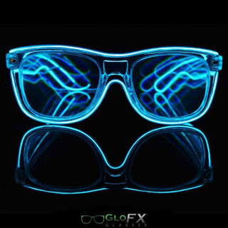 Customizable Light Up Diffraction Glasses - Rave Rebel