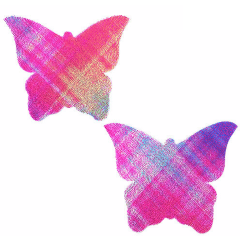 Weird Plaid Butterfly Kisses Pasties - Rave Rebel