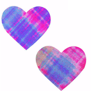 Weird Plaid Heart Pasties - Rave Rebel