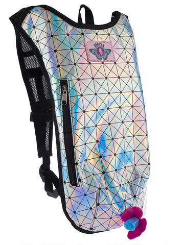 Holographic Disco Hydration Pack - Rave Rebel