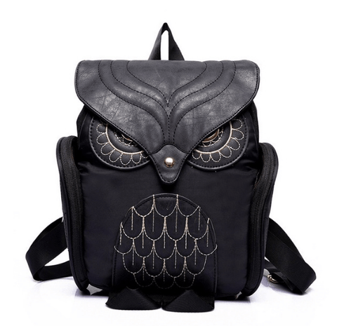 Black Owl Backpack - Rave Rebel