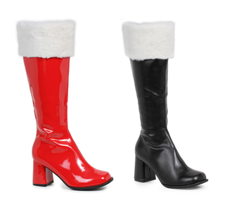 "3"" Heel Gogo Boots With Fur - Rave Rebel"