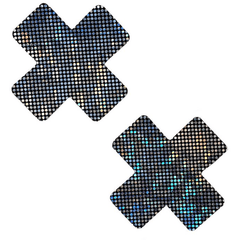 Cross Pasties in Geode - Rave Rebel