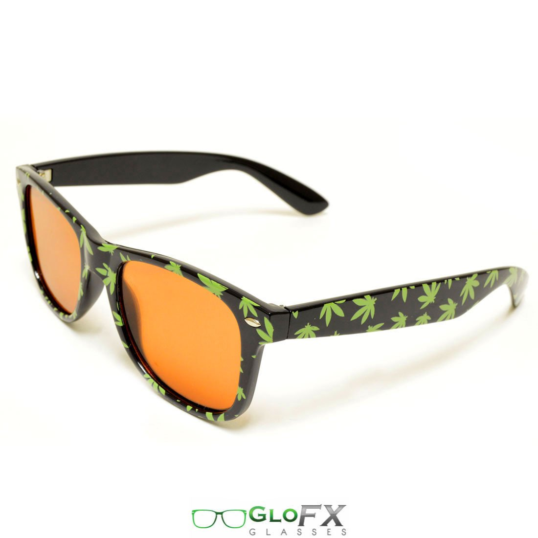 GloFX Weed Leaf Diffraction Glasses- Auburn Enhanced