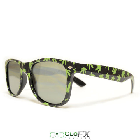 GloFX Weed Leaf Diffraction Glasses- Tinted