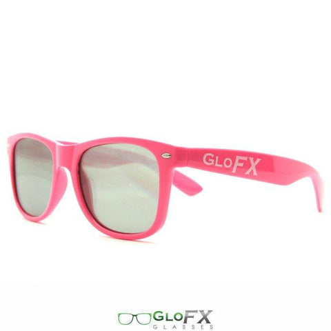 GloFX Ultimate Diffraction Glasses – Pink Tinted - Rave Rebel