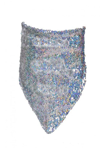 Reversible Sequin Bandana Mask - Holographic