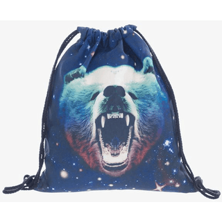Galaxy Bear Drawstring Bag - Rave Rebel