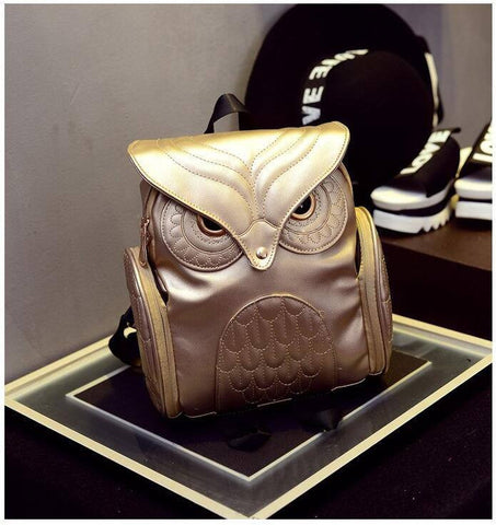 Gold Owl Backpack