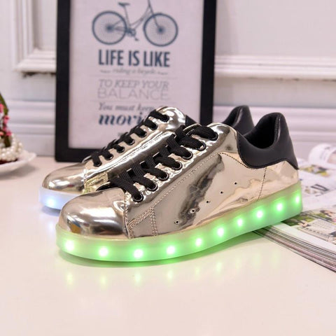 Shiny Gold LED Light Up Shoe - Rave Rebel
