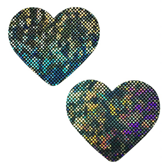 Heart Pasties in Geode - Rave Rebel
