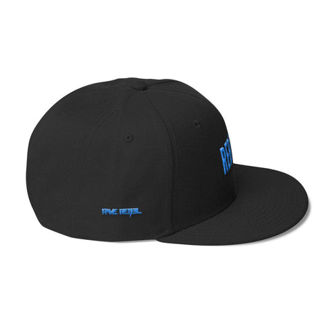 Blue REBEL Wool Blend Snapback