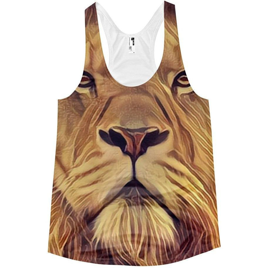 Electric Lion Women's Racerback Tank - Rave Rebel
