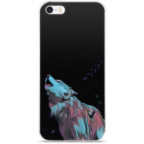 Techno Wolf iPhone case - Rave Rebel
