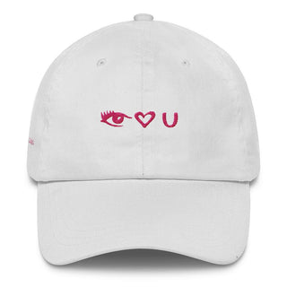 Pink Eye Heart U Classic Dad Cap - Rave Rebel