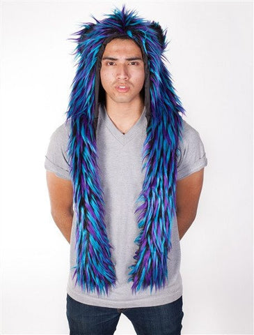 ClubStyle Black & Blue Monster Hood - Rave Rebel