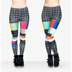 No Signal Leggings - Rave Rebel