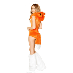 Fox hood with matching white leg warmers - Rave Rebel