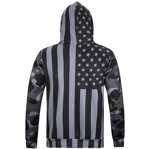 Vintage USA Flag Pullover - Rave Rebel