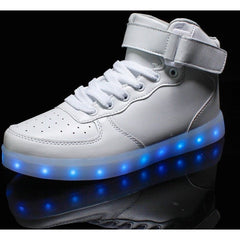 White LED High Top Light Up Shoe