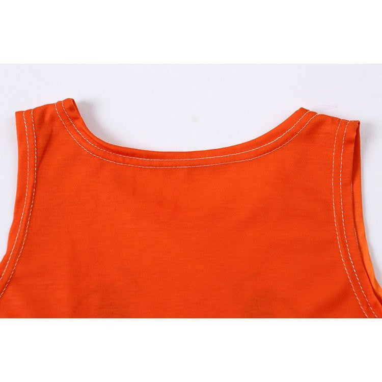 Orange Harajuku Crop Top - Rave Rebel