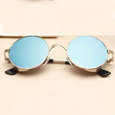 CURNBR  Steam Punk Round Metal Sun Glasses - Rave Rebel