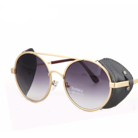 CNRUBR Vintage Round Sunglasses - Rave Rebel