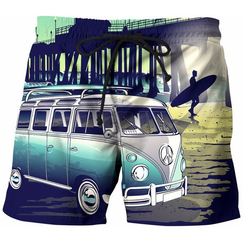 Hipster Vacation Board Shorts