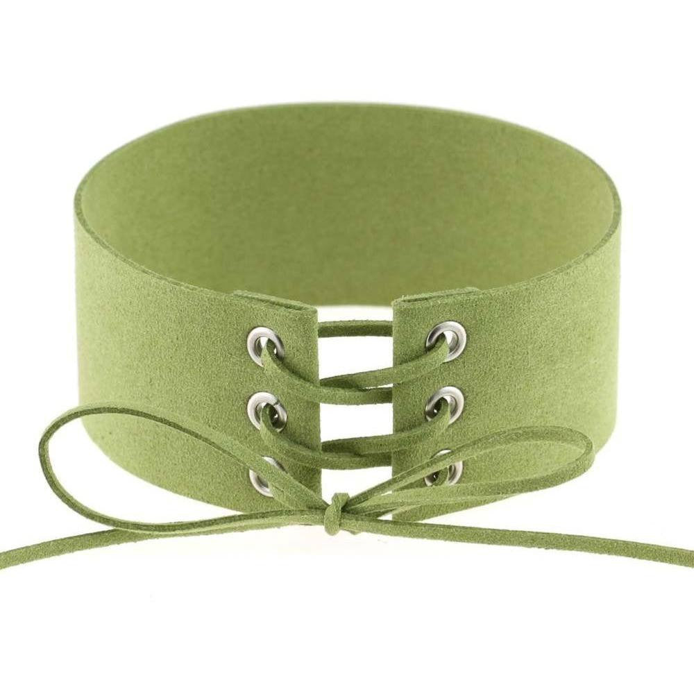 Green Lace Velvet Choker Necklace - Rave Rebel