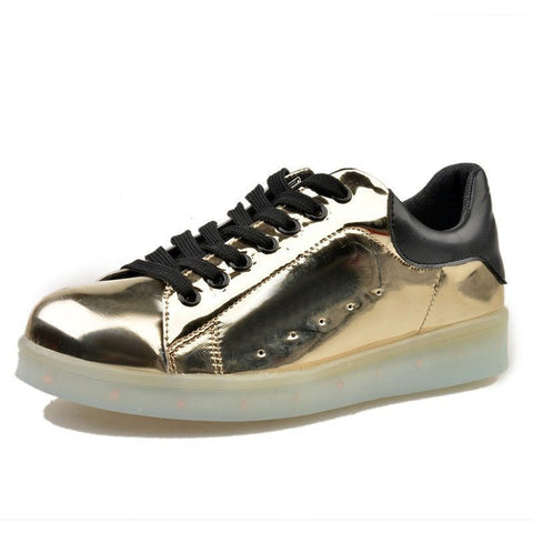 Shiny Gold LED Light Up Shoe