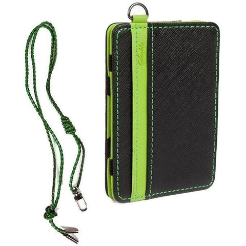 Slim Card and Money Holder with Leather Rope - Rave Rebel