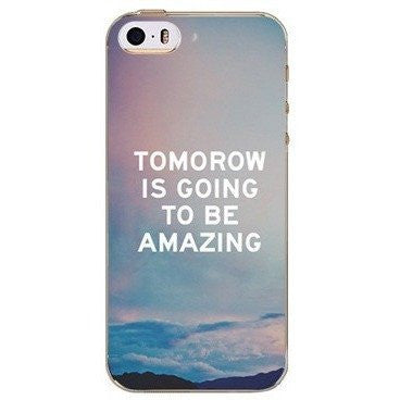 Tomorrow Is Good To Be Amazing Case For iPhone, Samsung Galaxy + Edge Phones - Rave Rebel