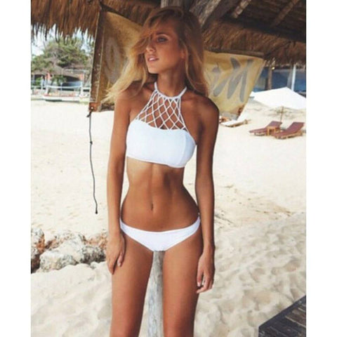 Laced Bandeau Top with Bottoms - Rave Rebel