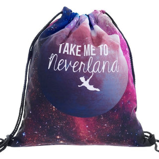 Take Me To Neverland Drawstring Bag - Rave Rebel