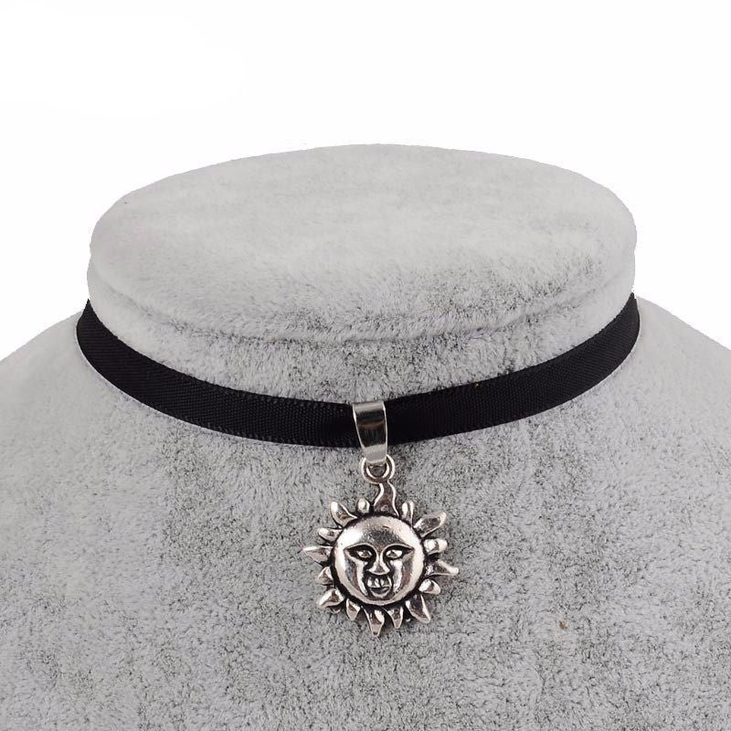 Sun Choker necklace - Rave Rebel