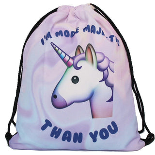 Majestic Unicorn Drawstring Bag - Rave Rebel