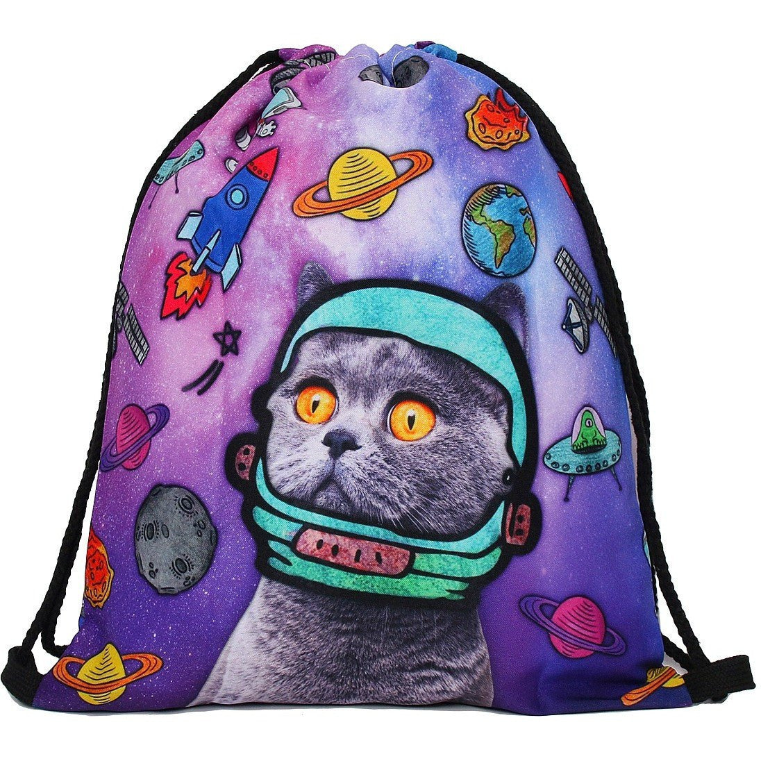 Space Kitty Drawstring Bag - Rave Rebel