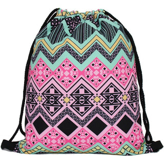 Trippy Lines Drawstring Bag - Rave Rebel