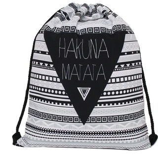 Hakuna Matata Drawstring Bag - Rave Rebel