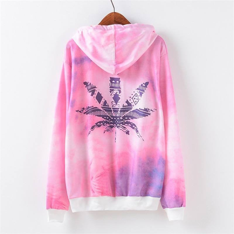 Rainbow Weed Leaf Pullover - Rave Rebel