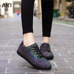 Chameleon Reflective Shoes - Rave Rebel