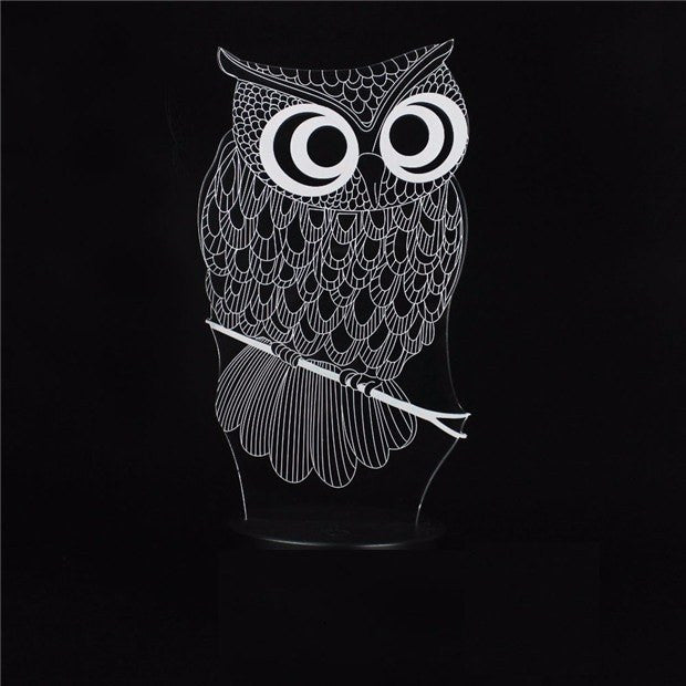 7 Color 3D LED Owl NightLight - Rave Rebel