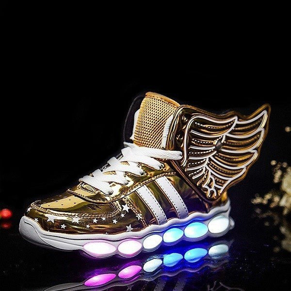 Kids Gold Wing LED Light Up Shoes 7dc9ea62d