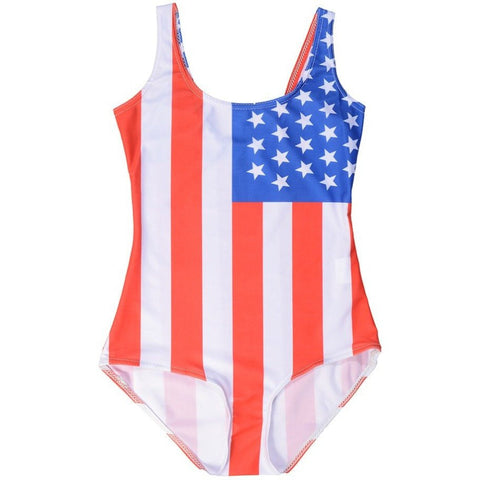 USA Flag Bodysuit - Rave Rebel
