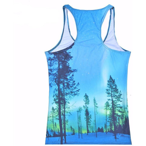 Women's Forest Galaxy Sleeveless Tank Top - Rave Rebel