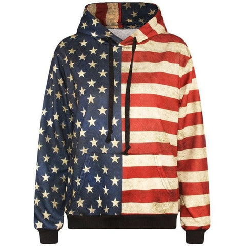USA Flag Pullover - Rave Rebel
